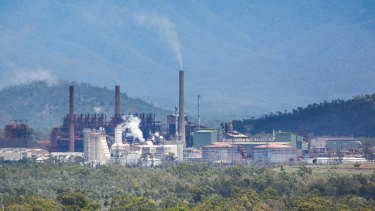Clive Palmer's Queensland Nickel refinery, about 25 kilometres north-west of Townsville.