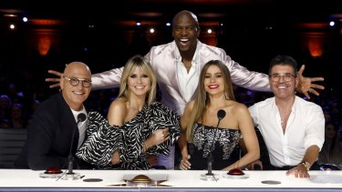 Howie Mandel, Heidi Klum, Terry Crews, Sofia Vergara and Simon Cowell on America's Got Talent.
