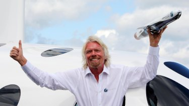 """Richard Branson plans to turn Virgin Galactic into the """"very first publicly listed human spaceflight company"""", and investors are piling in."""