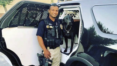 "Police officer Ronil ""Ron"" Singh, who was shot dead by a suspected drunk driver who was also allegedly an illegal immigrant."