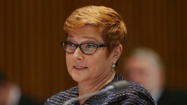Bound for China: Marise Payne.