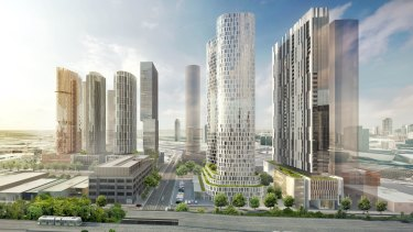 These six towers proposed for Fishermans Bend, which were submitted in a single planning application, by a syndicate of landowners.