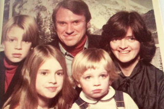 Bruce and Judith Baird with their three children Mike, Julia and Steve, who is the youngest.