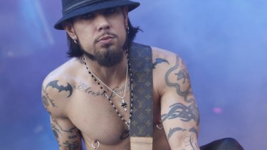 Former Red Hot Chili Peppers guitarist Dave Navarro.
