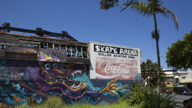 Red Hill Skate Arena was destroyed by fire in 2002.