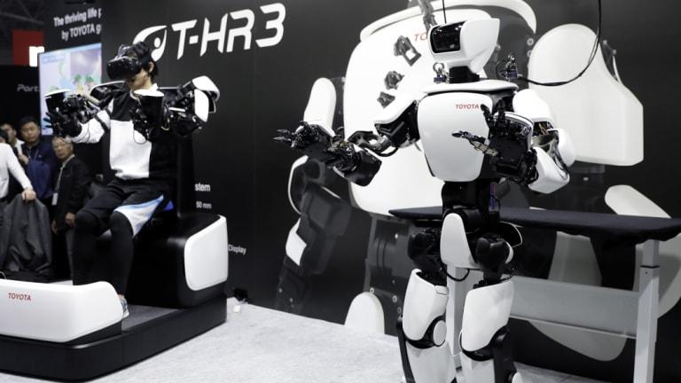 The Toyota T-HR3 humanoid robot.