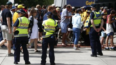 Police will be out in force at the MCG on Saturday.