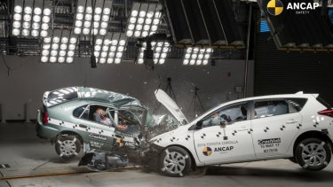 ANCAP crash-tested a 1998 Toyota Corolla with its 2015 cousin. See who would have survived at ANCAP.com.au/WhoSurvives