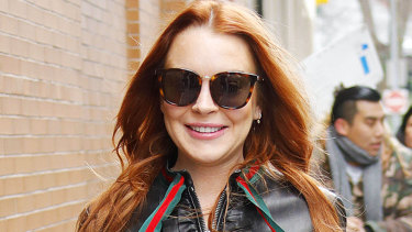 Lindsay Lohan out and about about in Los Angeles.