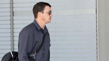 Alex Beeston arrives at the Brisbane District Court this week.