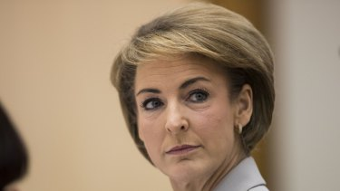 The former chief of staff to Michaelia Cash (above) is suing the Australian Workers' Union and BuzzFeed for defamation.