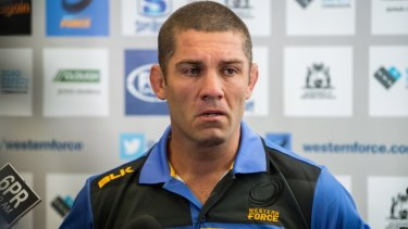 An emotional Matt Hodgson struggles to hold back his tears after RugbyWA's appeal against the Force's axing was dismissed.