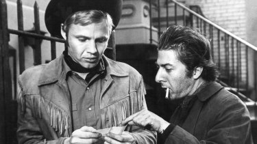 Dustin Hoffman and Jon Voight in Midnight Cowboy.