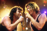 Jimmy Barnes and Michael Hutchence on stage in Richard Lowenstein's documentary Australian Made.