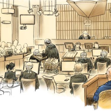 Inside the court room during David Eastman's trial.