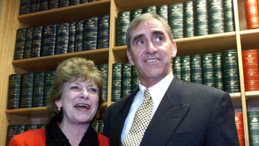 John Fahey and his wife Coleen, who suffered much during his years in politics.