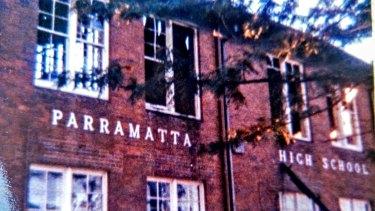 Parramatta High School the day after a fire in 1982.