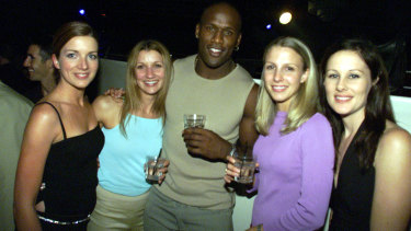 In his prime: Wendell Sailor parties with friends at the Last Lap.