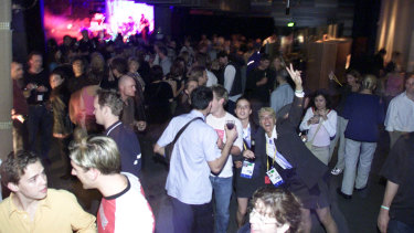 24-hour party people: Revellers party on at the Last Lap.