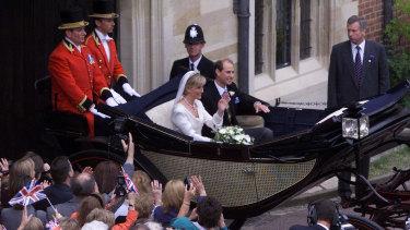 Prince Edward and Sophie Rhys Jones wed in 1999.
