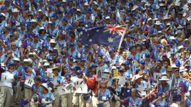 Voluneteering on the decline ... Sydney salutes its volunteer army after the Sydney Olympics.