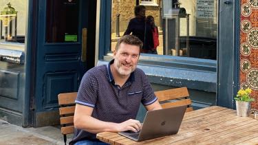 """Enjoying his """"work life integration"""": Ryan Burke"""