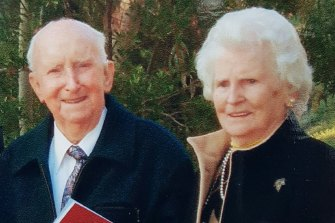 Basil and Elaine were married for almost 70 years.