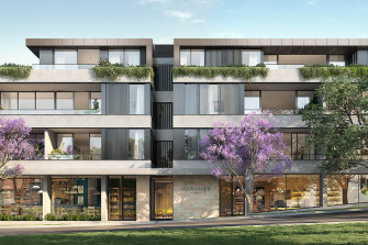 An artist's image of the planned Alexander Residences on Alexander Street in Crows Nest.