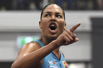 Liz Cambage has been able to use her high profile to make a point.