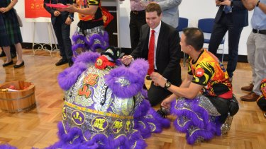 ACT Opposition Leader Alistair Coe at a Chinese New Year celebration.