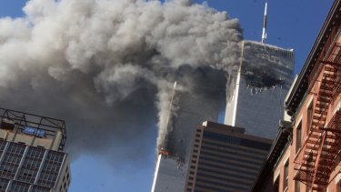 The attack on the World Trade Centre in New York on September 11, 2001.