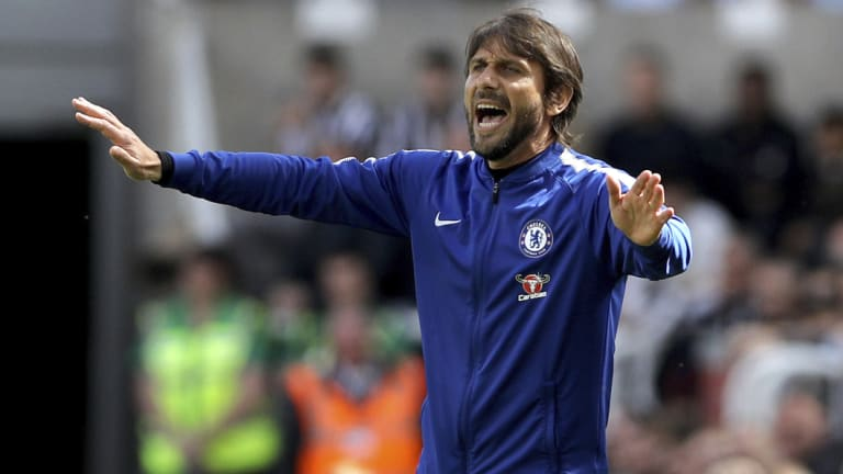 Chelsea manager Antonio Conte watches Champions League football slip away at the end of last season.