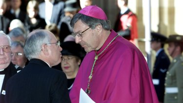 Archbishop George Pell with then prime minister John Howard in 2002.