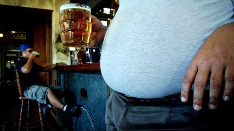 Why some humans develop a 'beer belly' may explained by evolutionary biology.