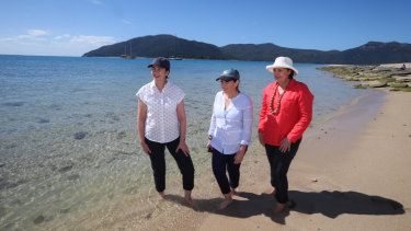 Premier Annastacia Palaszczuk, Environment Minister Leeanne Enoch and member for Mackay Julieanne Gilbert announced more funding for the Great Barrier Reef on Wednesday.