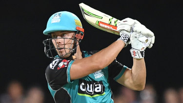 Powerful: Chris Lynn of the Brisbane Heat.