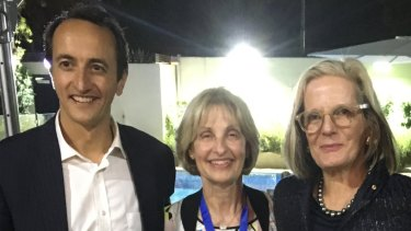 Dave Sharma with Jillian Segal and Lucy Turnbull.