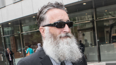 Bus driver Jack Aston outside the Melbourne County Court in October.