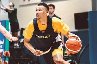Dante Exum is loving being back in the Australian Boomers ahead of the Tokyo Olympics.
