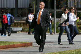 Vice-chancellor of the University of Sydney, Michael Spence on campus.