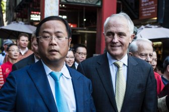 Xiangmo Huang and Malcolm Turnbull.