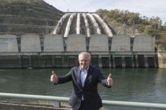 Prime Minister Scott Morrison visited  Snowy Hydro's Tumut 3 power station near the Talbingo dam in February this year.