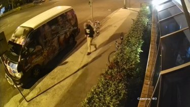 CCTV footage of Theo Hayez the night he was last seen on Friday 31 May.