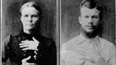 Queensland's doomed lovers: Ellen Thomson and John Harrison.