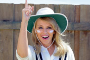 """Home coming queen: Kylie Minogue in the Tourism Australia """"Matesong""""campaign."""