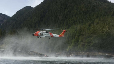 US Coast Guard crews respond to the tragedy.