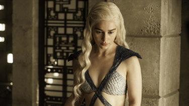 Daenerys Targaryen, Jon Snow's lover and aunt, in Game of Thrones.