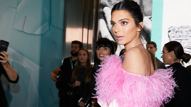 Lady of few words: Kendall Jenner arrives at the Tiffany & Co boutique in Sydney having collected her $500,000 appearance fee.