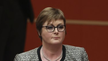 Defence Minister Linda Reynolds in the Senate on Wednesday.