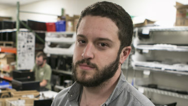 Cody Wilson at his company, Defense Distributed, in Austin, Texas.